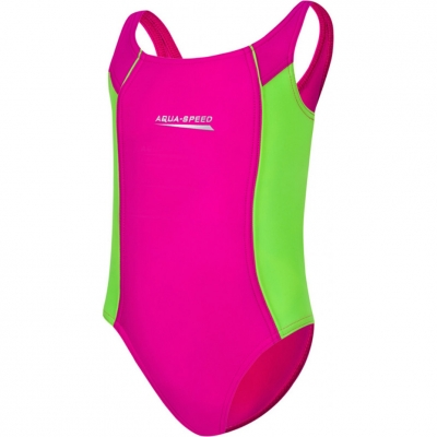 Costum inot Aqua Speed Luna 's pink-lime col. 83 copil Aqua-Speed