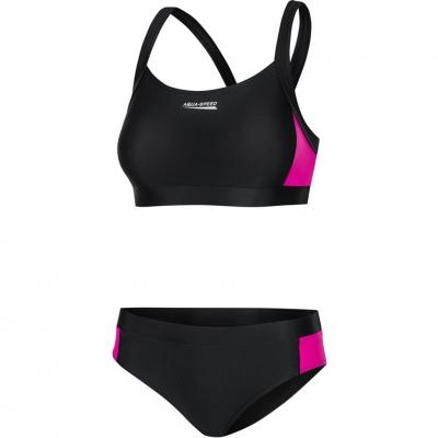 Costum inot Aqua-Speed Naomi black and pink 19 dama
