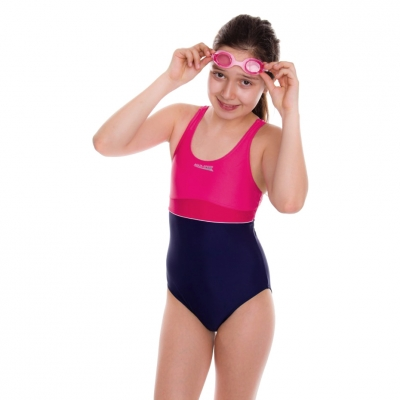's Costume Aqua-Speed Emily navy blue pink 43 367 copil