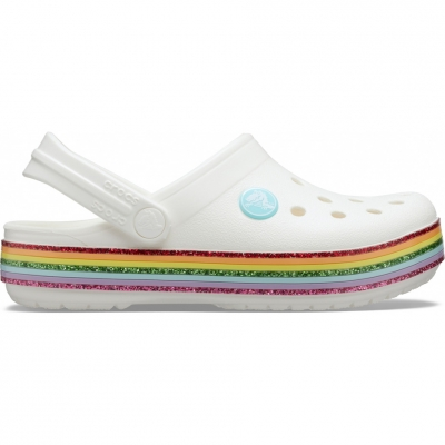 Crocs Crocband for Rainbow Glitter Clg K white 206151 100 copil