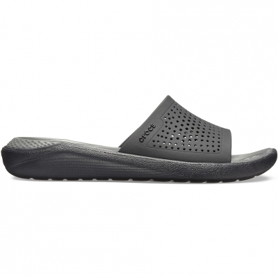 Crocs Literide Slides Black & Gray 205183 0DD
