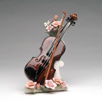 Cutiuta muzicala de portelan - Vioara