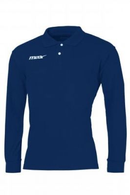 Bluza polo maneca lunga Blu Max Sport pentru timp liber