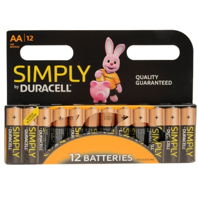 Duracell Simply 12 Pack AA Batteries