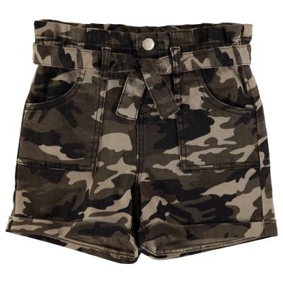 Pantalon scurt Combat Firetrap Camo copil fetita