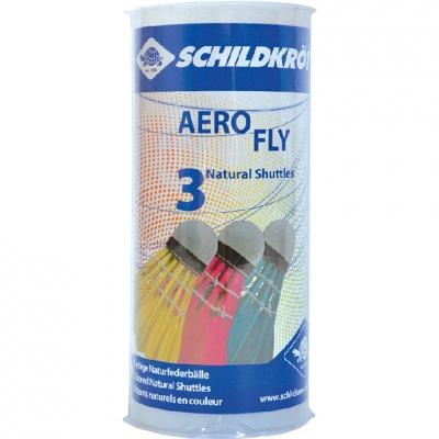 Badminton shuttlecocks Schildkrott Aero Fly colored 3 pcs 970911 Schildkrot