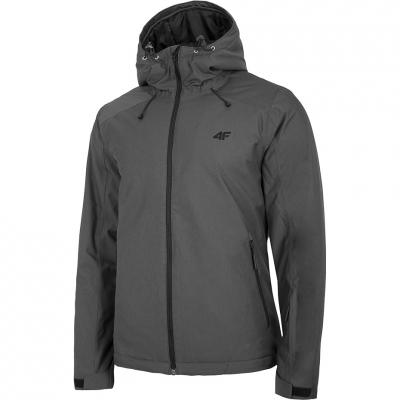 Geaca Ski men's 4F medium gray melange H4Z20 KUMN001 24M