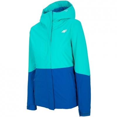 Geaca Ski 's 4F turquoise H4Z20 KUDN002 35S dama