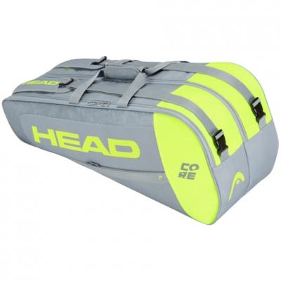 Geanta box Head Core 6R Combi tennis gray-lime 283401