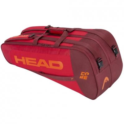 Geanta box Head Core 6R Combi tennis red-maroon-orange 283401