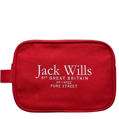 Geanta box Jack Wills Loughton Cotton Canvas Wash