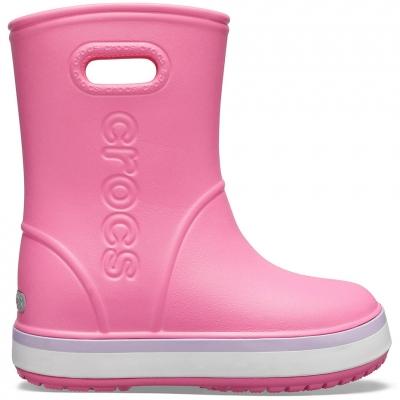 Gheata Gheata Crocs rain for Crocband Rain pink 205827 6QM copil copil