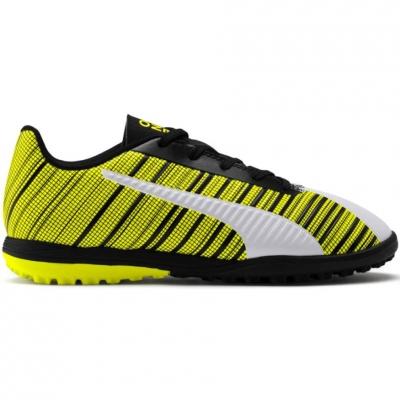 Gheata Minge Fotbal Puma One 5.4 TT yellow-white-black 105662 03 copil