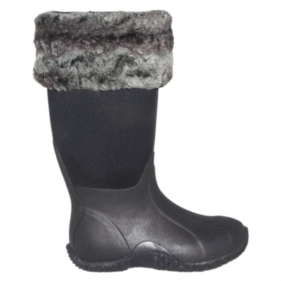 Gheata Requisite Slate Faux Fur Toppers One Size