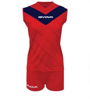 Givova Muro set, red and navy blue