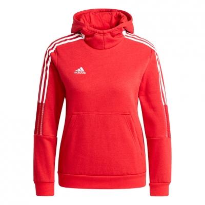 Hanorac adidas Tiro 21 Sweat red for GM7338 copil adidas teamwear