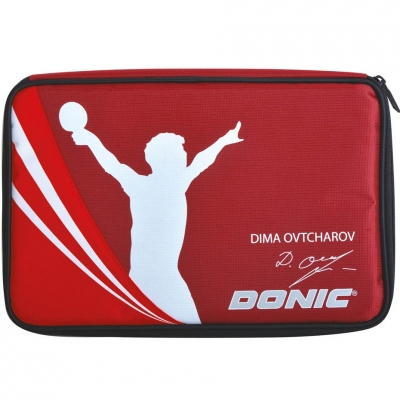 Racquet cover Donic Ovtcharov Plus red 818539