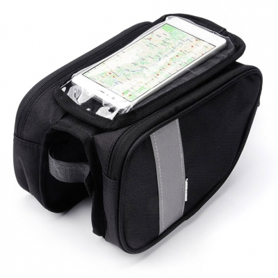 Bicycle pannier on the frame? with phone case Meteor Torys 25902