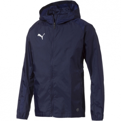 Jacheta Geaca de ploaie Men's Puma Liga Training Core navy blue 655304 06