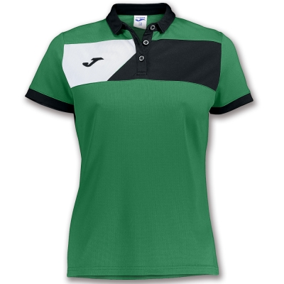Polo Crew Ii S/s Green-black dama Joma
