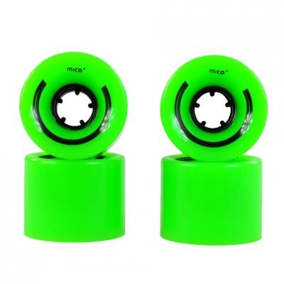 MICO WHEELS FOR PLASTIC PLASTIC 60x45mm 4pcs green