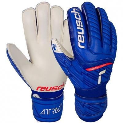Manusa Portar Reusch Attrakt Grip Finger Support blue-white 5172810 4011 copil