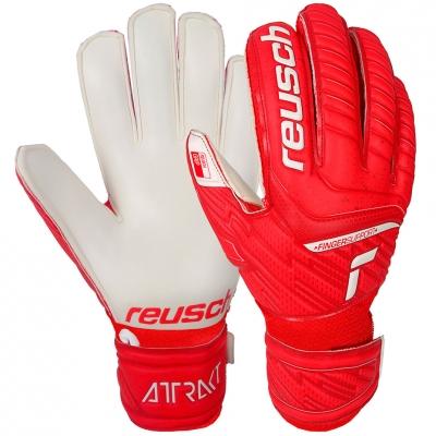Manusa Portar Reusch Attrakt Grip Finger Support red- white 5172810 3002 copil