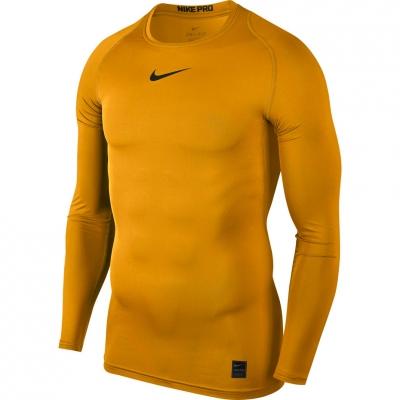 Camasa T- Nike Pro Top Compression LS yellow 838077 739