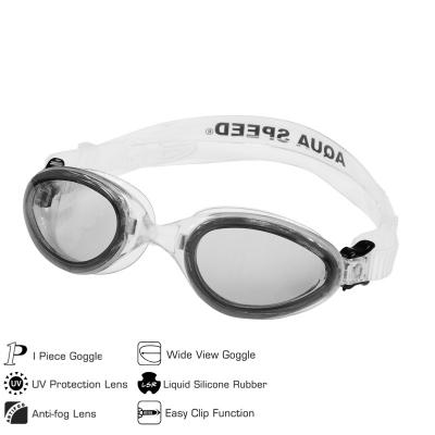Swimming glasses AQUA-SPEED SONIC white / gray 53
