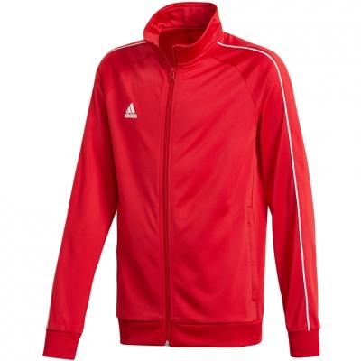 Bluza trening adidas Core 18 PES JR red CV3579 adidas teamwear
