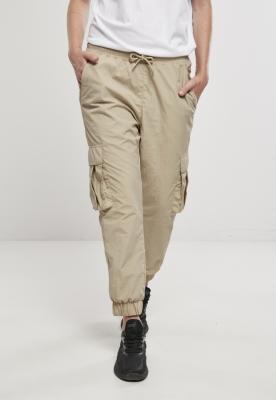 Pantalon High Waist Crinkle Nylon Cargo dama Urban Classics