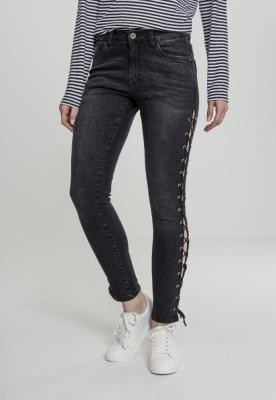 Pantalon Denim Lace Up Skinny dama Urban Classics