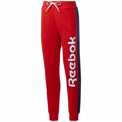 Pantalon Reebok 's TE Liner Logo French Terry red FU2258 dama