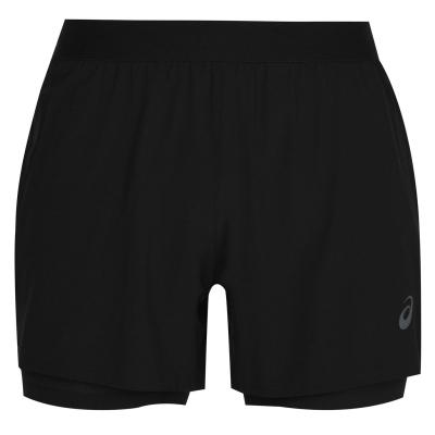 Pantalon scurt Combat Asics Road 2in1 barbat