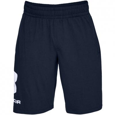 Pantalon scurt Combat Men's Under Armor Sportstyle Cotton Logo navy blue 1329300 408 Under Armour
