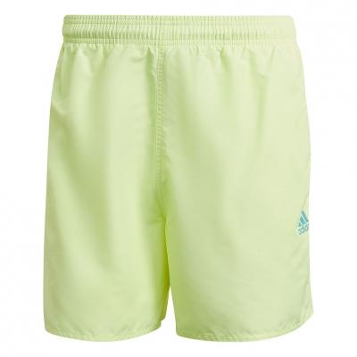 Pantalon scurt Combat Men's  adidas Short Length Solid Swim Short green-neon GQ1083