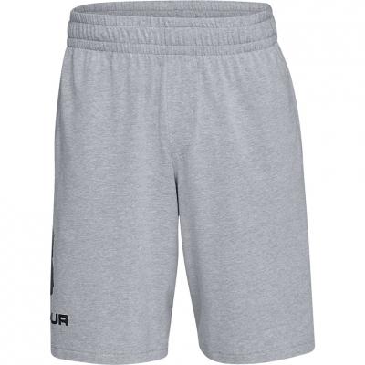 Pantalon scurt Combat Under Armor Sportstyle Sport Logo Cotton gray 1329300 035 Under Armour