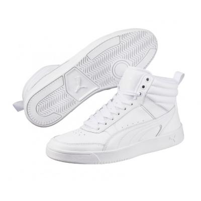 Pantofi sport piele albi Puma Rebound Street V2 363716-02 Barbati alb