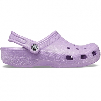 's Crocs Classic Glitter Clog Violet 205942 5PR dama
