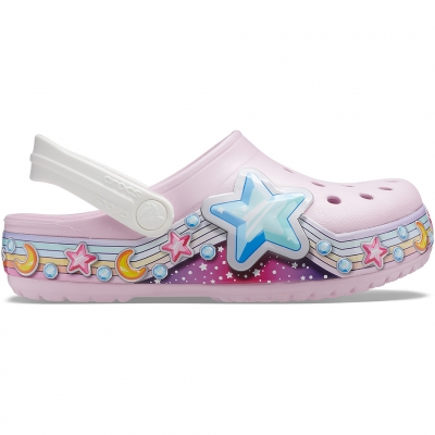 Crocs Fl Star Band Clog pink 207075 6GD copil