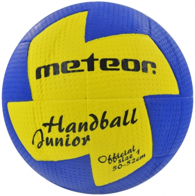 HAND BALL METEOR NU AGE 1 blue / yellow 4063 copil