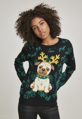 Bluza trening Pug Christmas dama Urban Classics