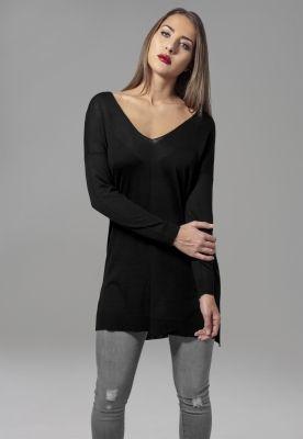Bluza trening Fine Knit Oversize V-Neck dama Urban Classics