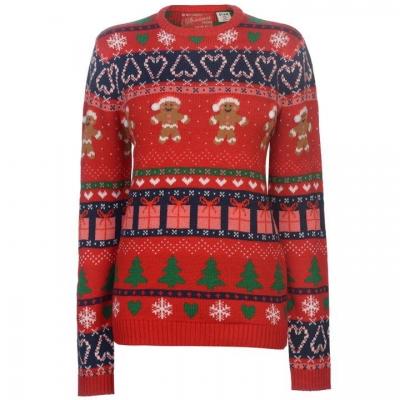 Star Christmas Knitted Jumper dama