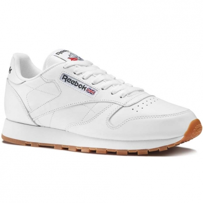 Pantof Reebok CL LTHR men's white 49799