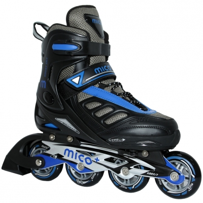 Mico Ghost Sky Blue inline skates black and blue PW-125C 293C