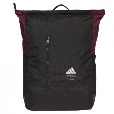 Ghiozdan adidas BP Classic TOP ZIP black-Burgundy FS8339