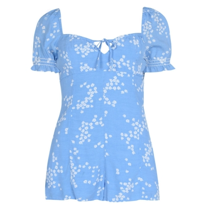 Jack Wills Connie Ditsy Print Playsuit