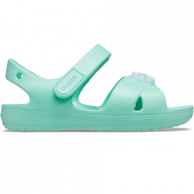 Sanda Crocs for Classic Cross Strap Charm Mint 206947 3U3 copil