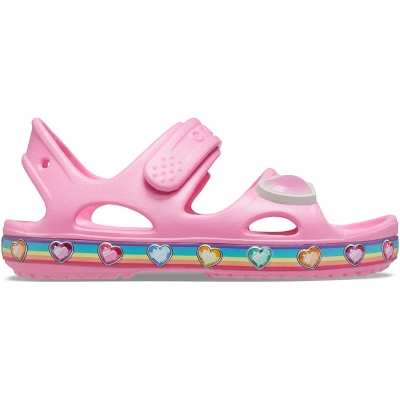 Sanda Crocs for Fun Lab Rainbow pink 206795 669 copil